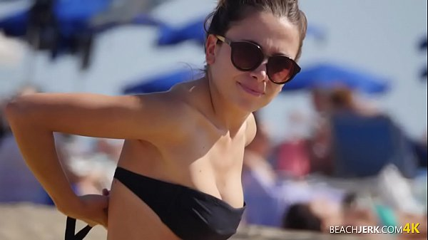 yellow-and-black large topless beach